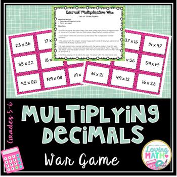 Multiplying Decimals Center Game