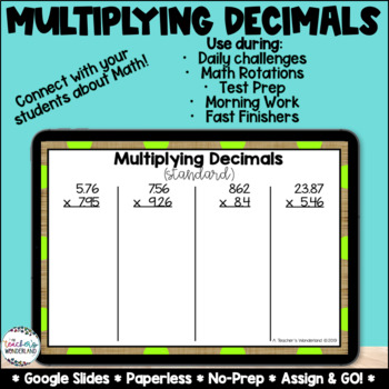 Multiplying Decimals [Google Classroom Compatible]