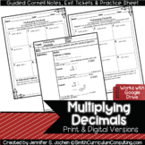 Multiplying Decimals Guided Cornell Notes | Printable & Digital