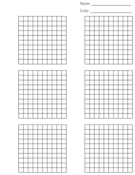 picture relating to Hundredths Grid Printable known as Hundredths Grid Worksheets Training Materials TpT