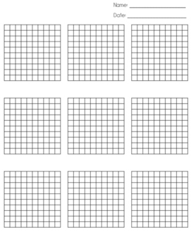 Current image with regard to printable hundredths grids