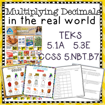 Multiplying Decimals In the Real Word Grocery Ad Activity