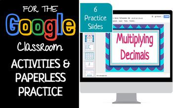 Multiplying Decimals Interactive Activity Google Slide