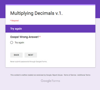 Multiplying Decimals - Interactive Digital Task Cards - Google Forms