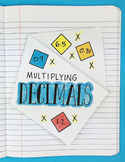 Multiplying Decimals Interactive Notebook Foldable by Math Doodles