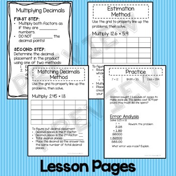 Multiplying Decimals Lesson 6.NS.3