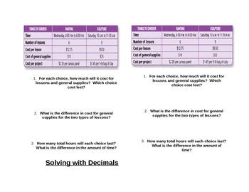 Multiplying Decimals Interractive