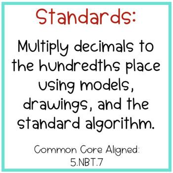Multiplying Decimals Lesson {5th Grade CC Aligned}