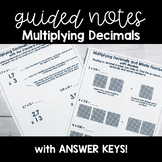 Multiplying Decimals GUIDED MATH NOTES