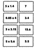 Multiplying Decimals Matching Activity