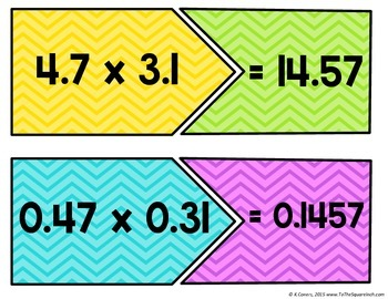 Multiplying Decimals Center