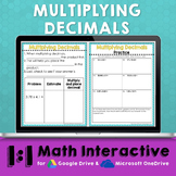 Multiplying Decimals Notes for Distance Learning