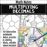 Multiplying Decimals Math Wheel - Fun Notes Format for Dec