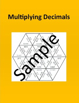 Multiplying Decimals – Math puzzle