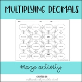 Multiplying Decimals Maze