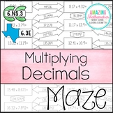 Multiplying Decimals Maze