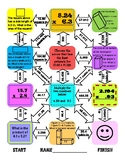 Multiplying Decimals Maze Worksheet