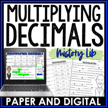 Multiplying Decimals Mistory Lib Activity