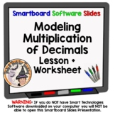 Multiplying Decimals Modeling Multiplication of Decimals Smartboard Model Lesson