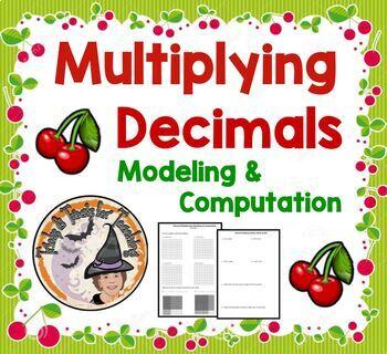 Multiplying Decimals Modeling and Computation Algorithm Worksheet Model