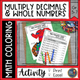 Multiplying Decimals (Money) Coloring with Math Ugly Sweater