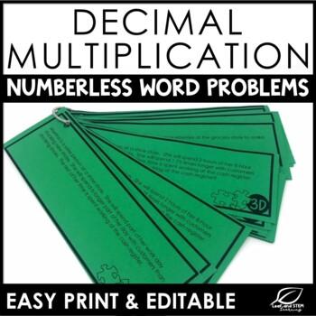 Multiplying Decimals Multi Step Word Problems {Numberless Word Problems}