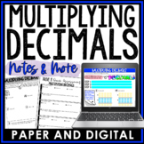 Multiplying Decimals Notes and Such 6.NS.B.3