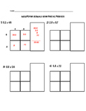 Multiplying Decimals - Partial Product Exit Slip Quick Check
