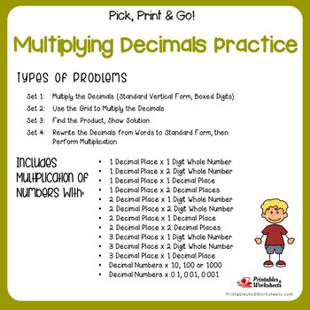 Multiplying Decimals Practice Worksheets by Printables and Worksheets