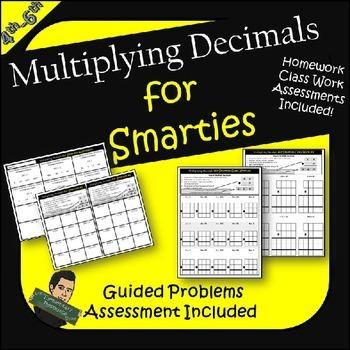 Multiplying Decimals Practice Worksheets Assessment- Multiplication
