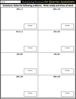 multiplying decimals practice worksheets assessment multiplication. Black Bedroom Furniture Sets. Home Design Ideas