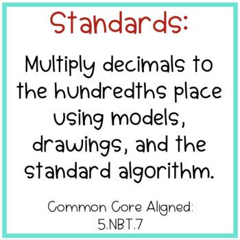 Multiplying Decimals Practice FREEBIE!