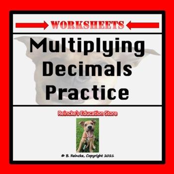 Multiplying Decimals Practice Worksheets