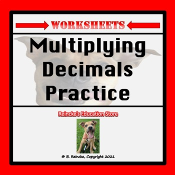 Multiplying Decimals Practice Worksheets