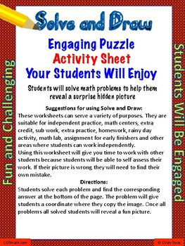 Multiplying Decimals Puzzle Activity Worksheet (Level 8)