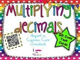 Multiplying Decimals **QR CODE Task Cards**