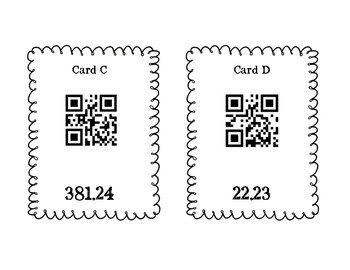 Multiplying Decimals QR Code Scavenger Hunt  TEKS 6.3E Multiply Decimals Only