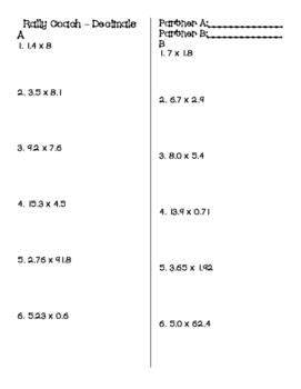 Multiplying Decimals - Rally Coach