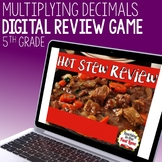 Multiplying Decimals Review Game - Hot Stew Review