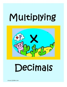 Multiplying Decimals Riddle File Folder Center