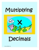 Multiplying Decimals Riddle File Folder Center
