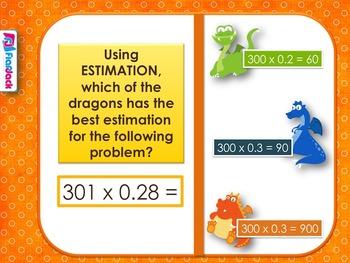 Multiplying Decimals SMART BOARD Game (CSS 5.NBT.B.7)