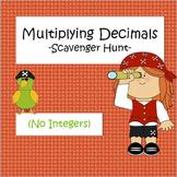 Multiplying Decimals - Scavenger Hunt