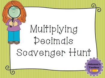 Multiplying Decimals Scavenger Hunt