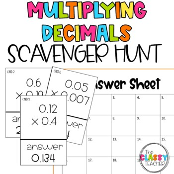 Multiplying Decimals Scavenger Hunt