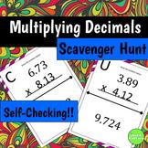 Multiplying Decimals Scavenger Hunt Activity