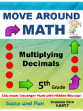 Multiplying Decimals Scavenger Hunt Math Game