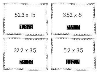 Multiplying Decimals Scavenger Hunt TEKS 5.3E CCSS 5.NBT.B.5