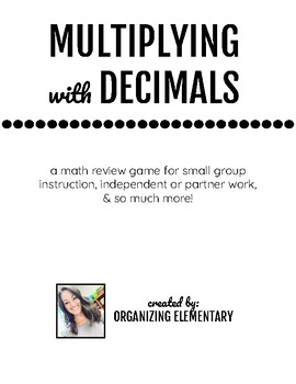 picture about Multiplying Decimals Games Printable identified as Multiplying Decimals Worksheets Coaching Materials TpT