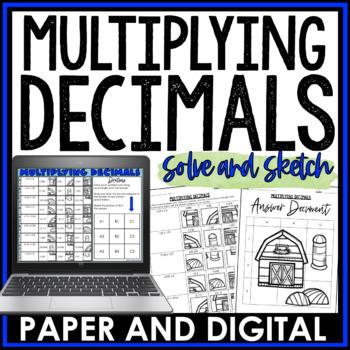 Multiplying Decimals Solve and Sketch